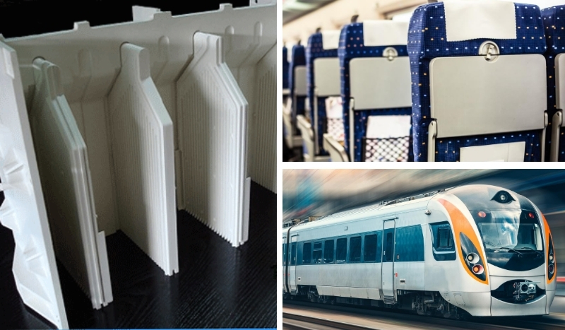 Moulage pièce plastique- equipement ferroviaire-Reffay Sas